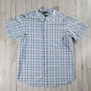 Columbia Plaid Regular Fit Button Up Mens Large